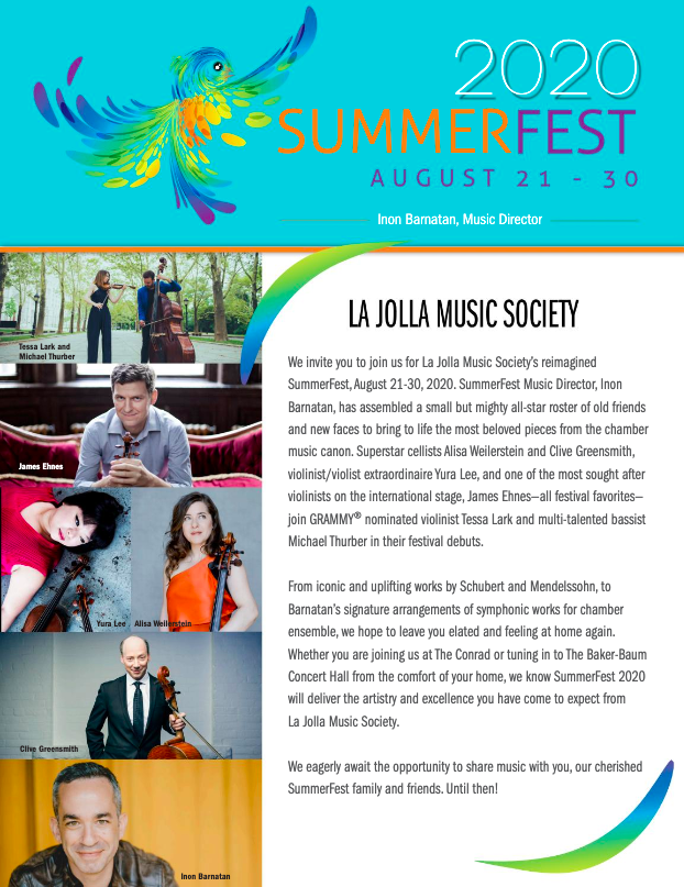 SummerFest 2020 brochure